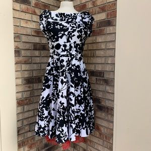 Retro fit and flare dress